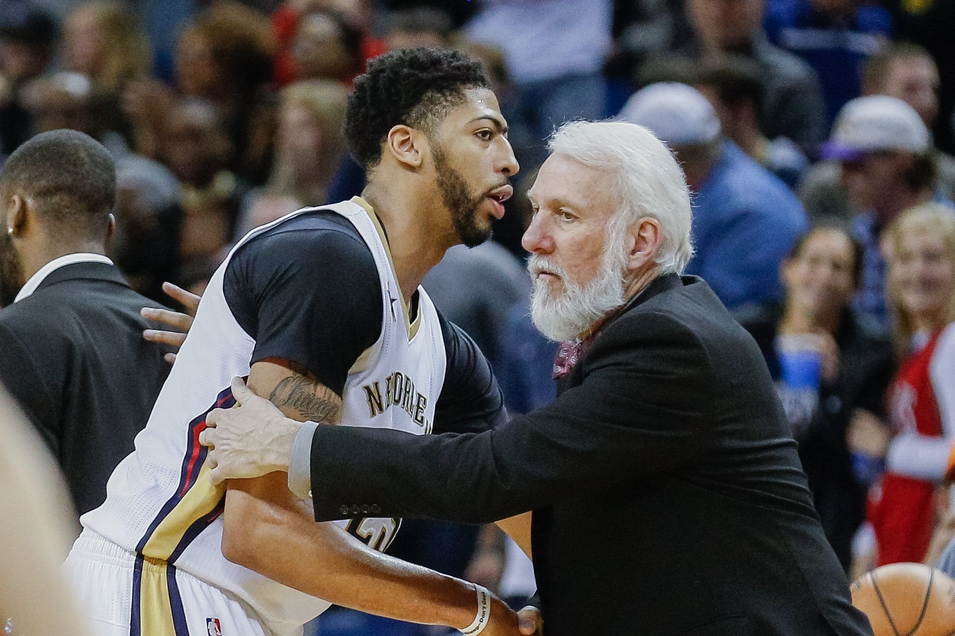 a11bad5f3dd Report  Gregg Popovich told Pelicans GM not to trade Anthony Davis ...