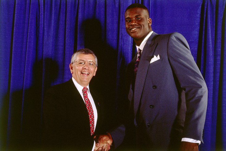 David Stern and Shaquille O'Neal