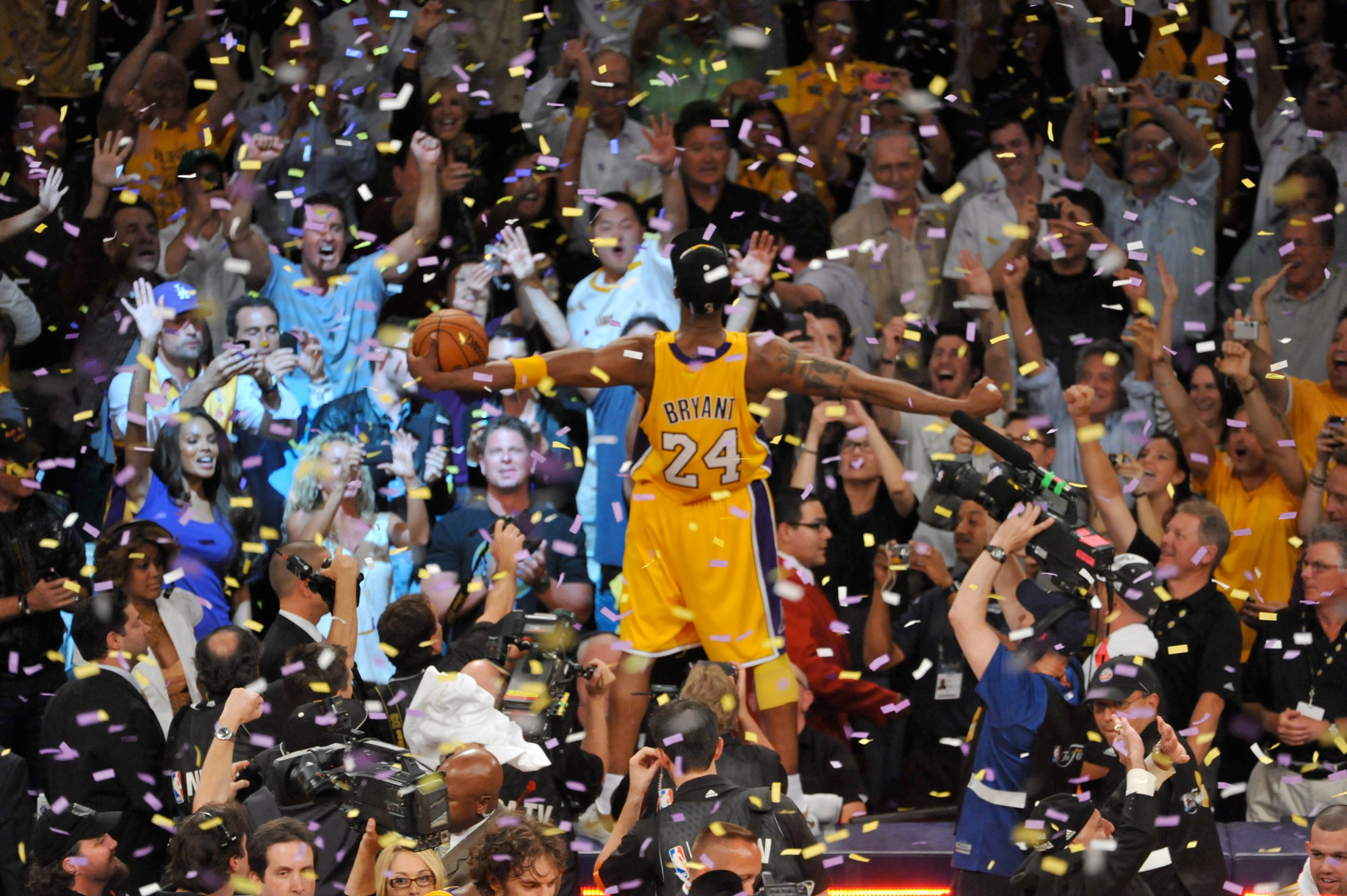 Image result for kobe bryant championship celebration