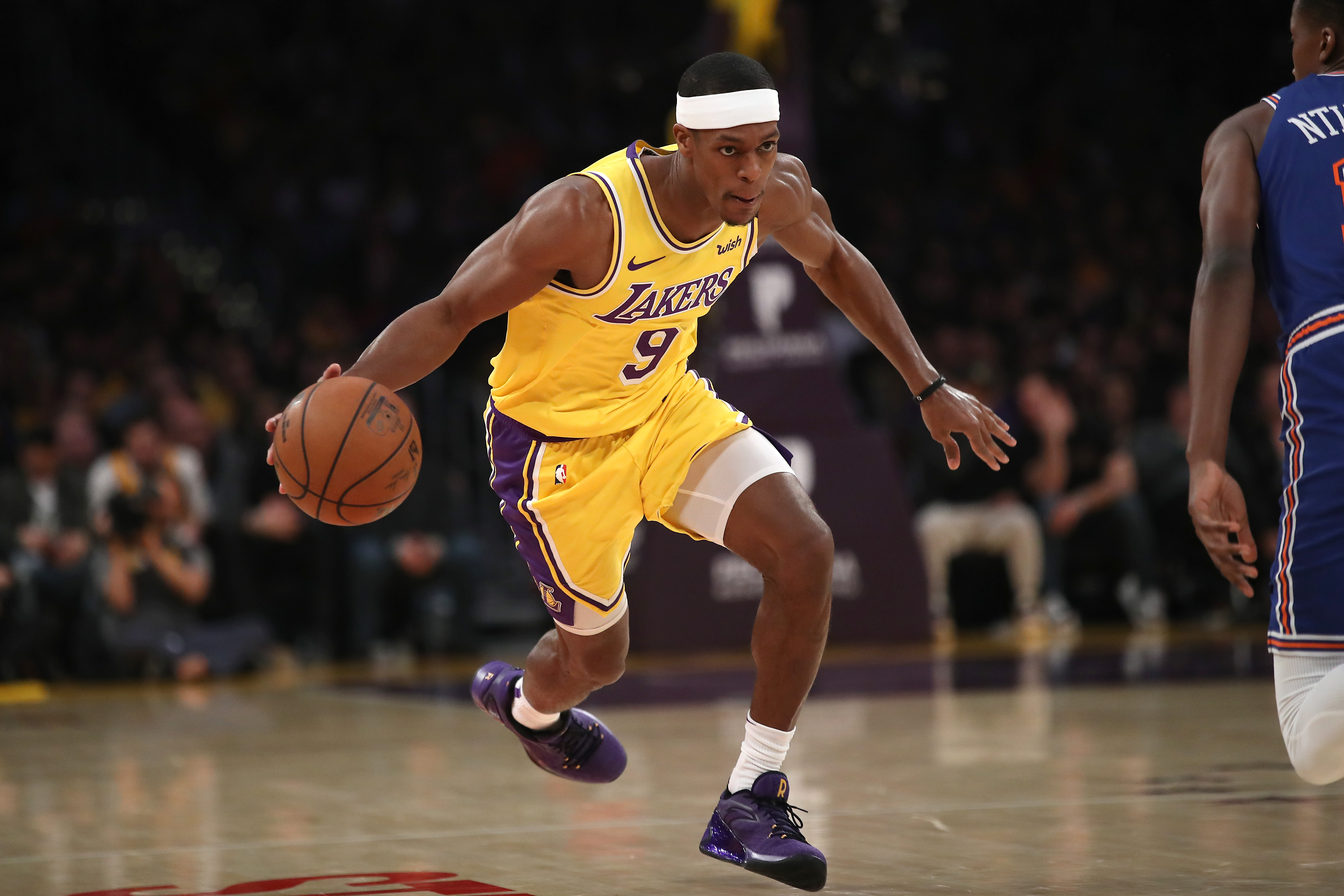 Report Lakers hopeful Rajon Rondo Could Rejoin During First round Of Playoffs Lakers Outsiders