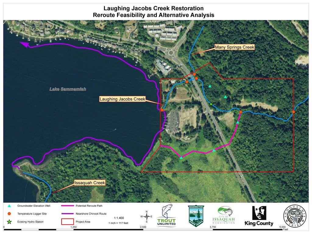 Laughing Jacobs Creek Restoration Feasibility Study Lake