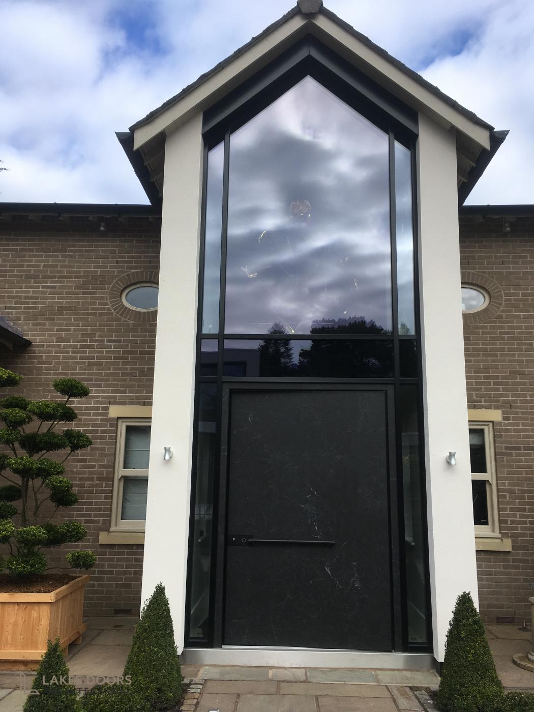 Black Marble Pivot Door