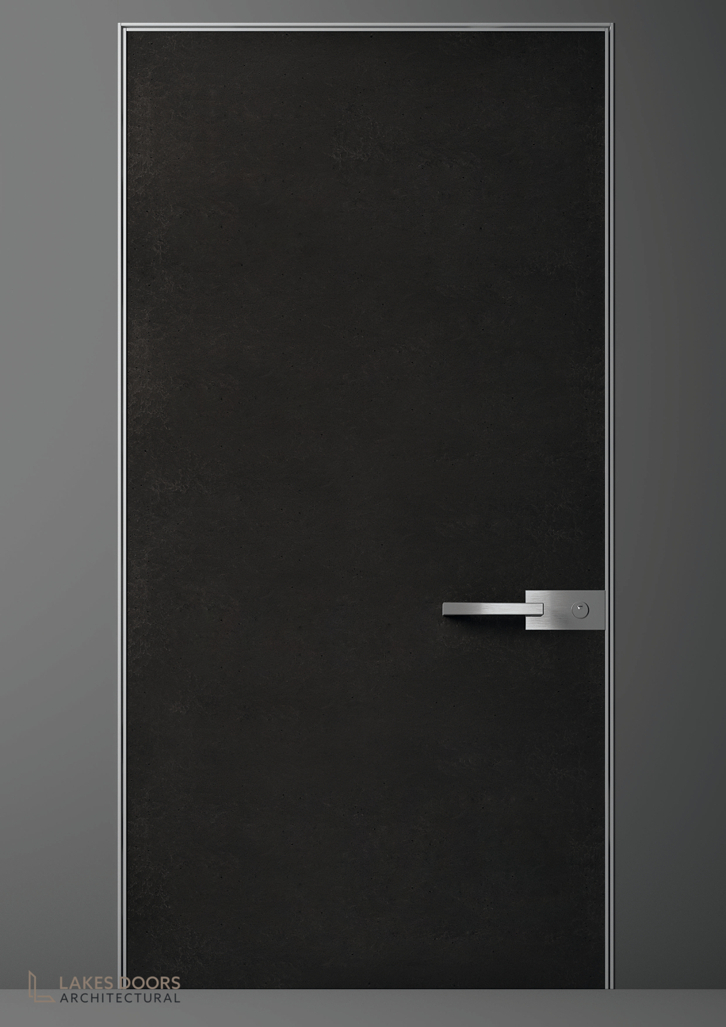 Oikos Black Concrete Door