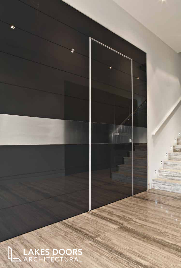 Oikos cladding in black glass