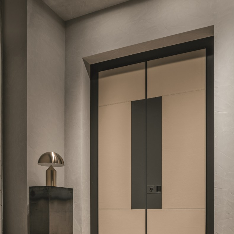 Leather Clad Oikos Doors