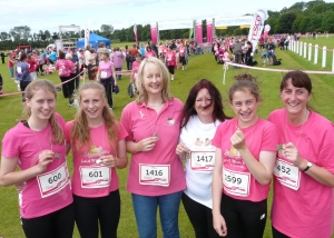 Lakes Free Range Egg Co team at Race For Life