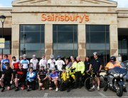 Riders setting off from Sainsburys