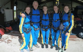 Charity Sky Dive by Lakes Free Range Egg sky dive team