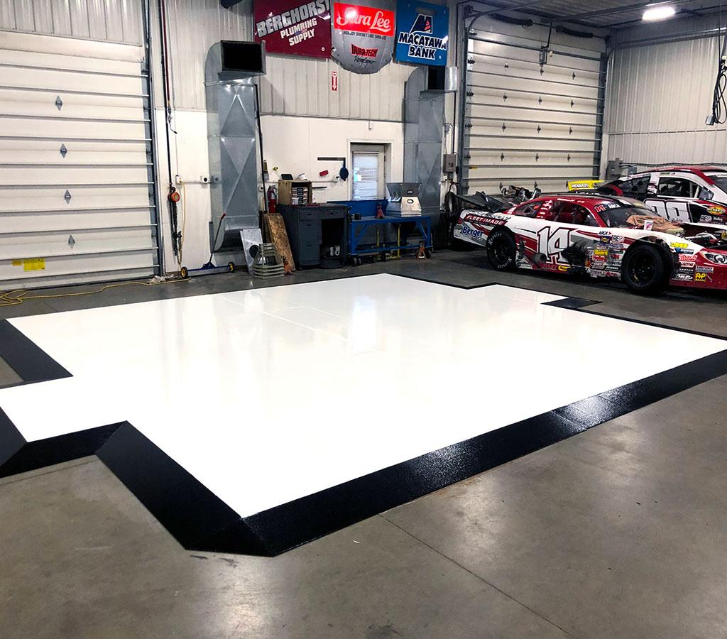 hall flooring project
