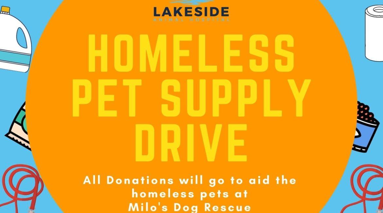homeless pet supply drive