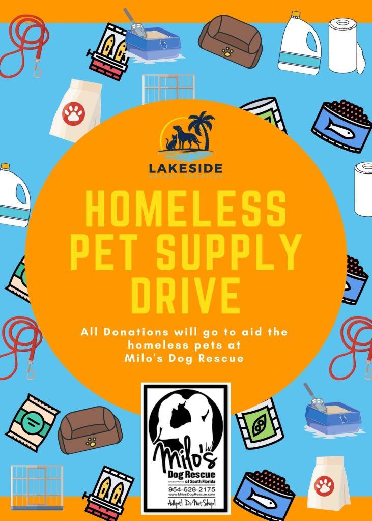 homeless pet supply drivehomeless pet supply drive