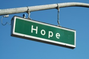 """street sign that reads """"hope"""""""