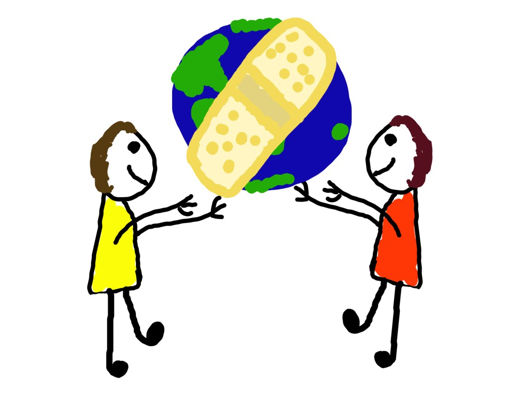 Two kids wanting to help heal the world