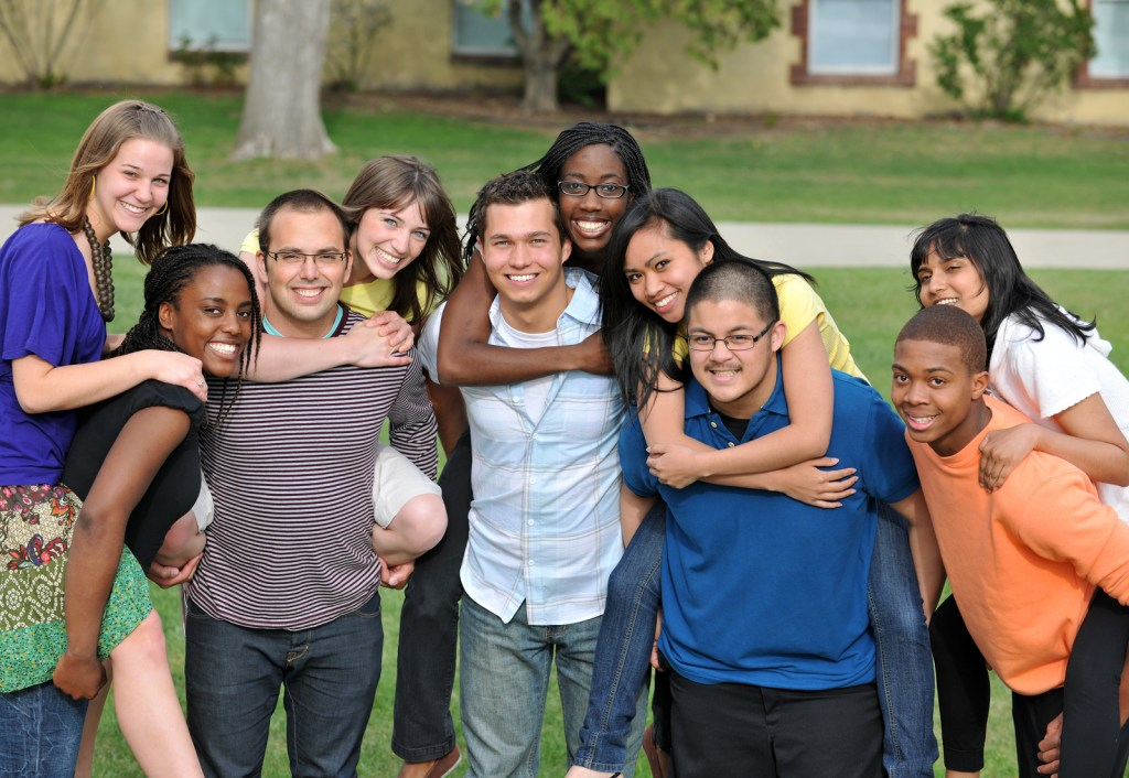 Group of diverse students