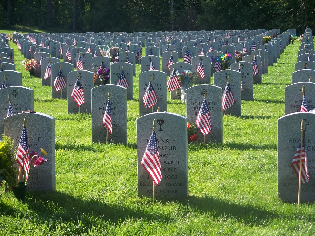 Tahoma National Cemetery in Washington State on Memorial Day