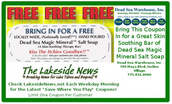 Visit The Dead Sea Warehouse In Incline Village and Pick Up a Free Bar of Soap