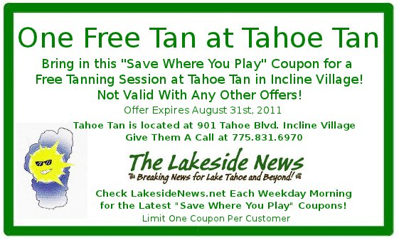 """Save Where You Play"" With a Free Tanning Session"