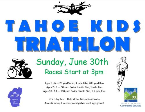 Tahoe Kids Triathlon Poster
