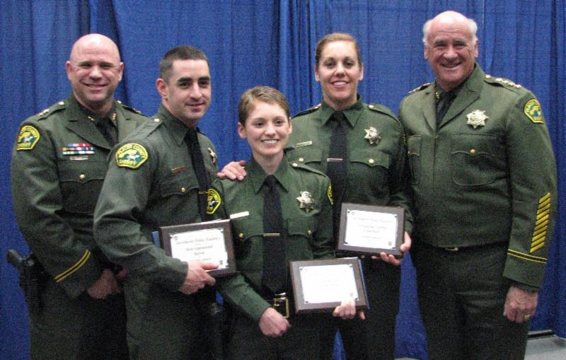 Pictured from left to right are: Undersheriff Devon Bell, Deputy Matthew Spencer, Deputy Samantha Scott, Deputy Allyson Prero and Sheriff Ed Bonner.