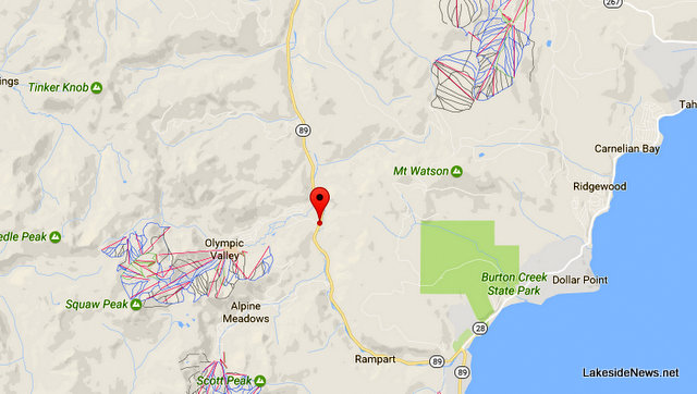 Traffic Update….Collision On 89 Near Squaw