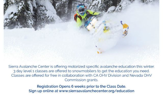 Registration Starts Soom For Snowmobile Avalanche Education Courses