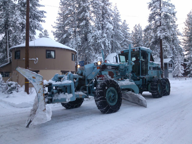 Snow Removal Crews Working Around The Clock In South Lake Tahoe