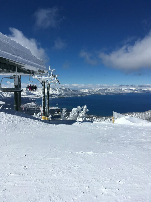 Tahoe Owns Spring Skiing With Most Snow In The U.S., Sunny Skies & Clear Roads