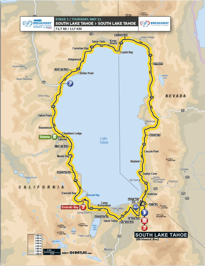 Lake Tahoe Guide To Amgen Tour of California Cycling Competition