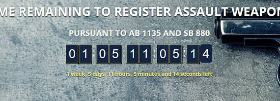 Two Weeks Left to Register All Bullet Button Assault Weapons