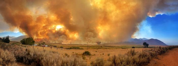 Slink Fire Roars to 6,500 Acres, Hwy 395 Closed, Town of Walker Evacuated, Emigrant Wilderness Threatened