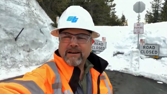 Caltrans Crews Excited for Annual Pass Clearing, Rite of Spring!!  The Snow Blowing Starts April 5th on Ebbetts, Sonora & Monitor Passes!