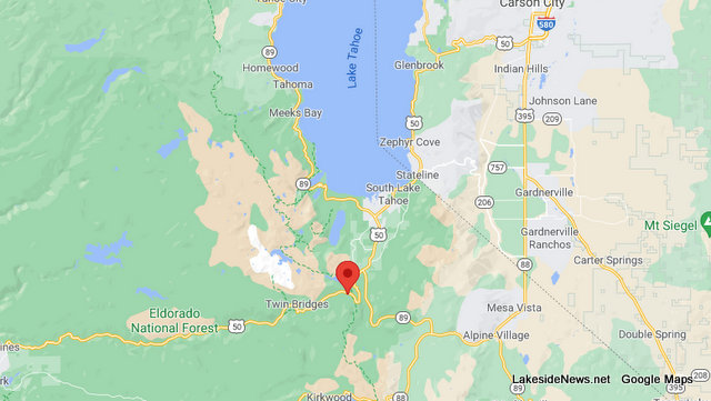 Traffic Update….Overturned Vehicle Off Road Collision Near Us50 / Johnson Pass Rd