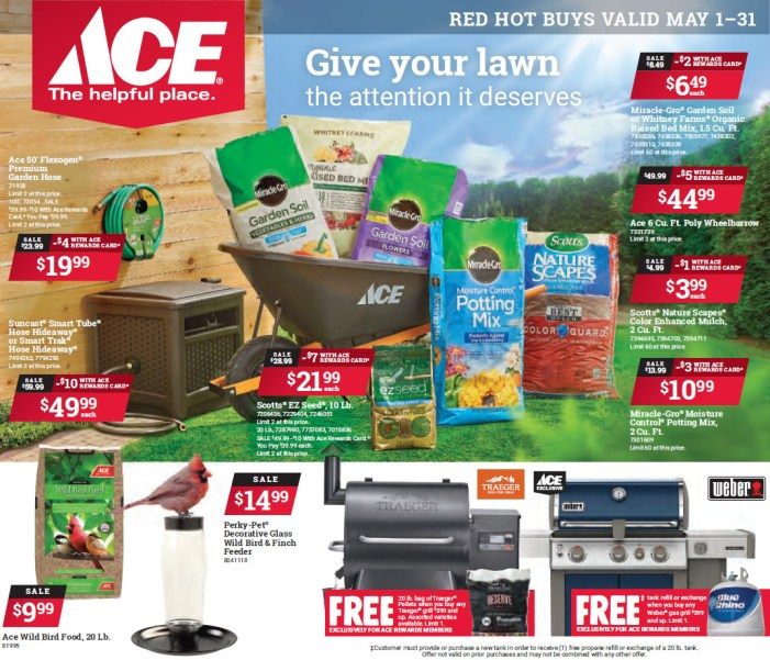 Shop Your Local Ace Hardware & Save with May's Red Hot Buys!