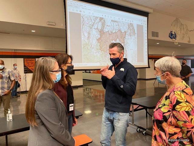 Alpine County Leadership Meets with Governor Gavin Newsom on Tamarack Fire Damage