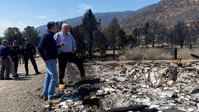 Governor Newsom Surveys Tamarack Fire Damage with Nevada Governor Sisolak, Meets with Fire and Emergency Officials.