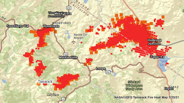 Tamarack Fire July 23rd Morning Update With Briefing Video.  58,417 Acres, 4% Containment, 1,353 Total Personnel