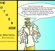 """""""Welcome to the Pearly Gates Dr. Fauci"""" ~ The Other Side By Mike Darby"""