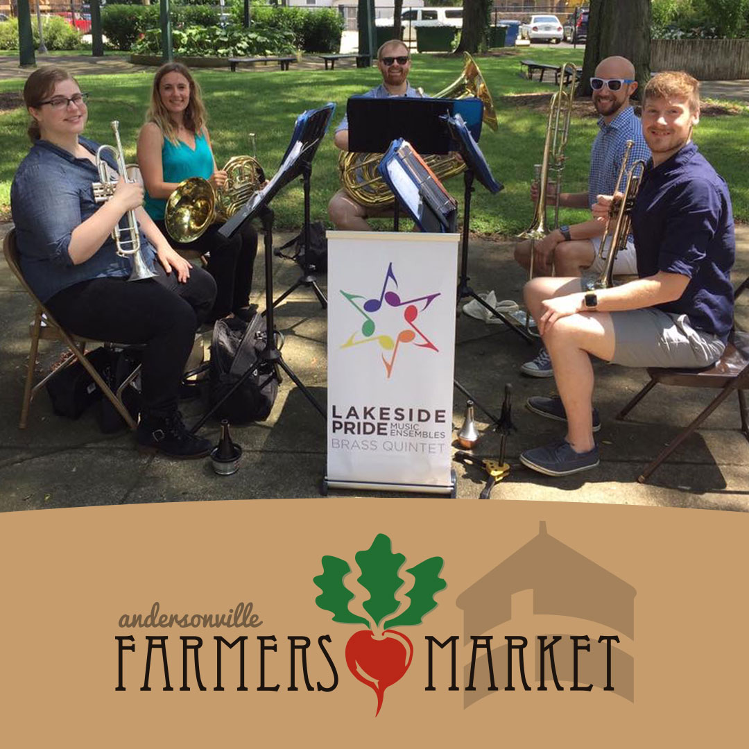 Brass Quintet at the Andersonville Farmers Market promotional graphic