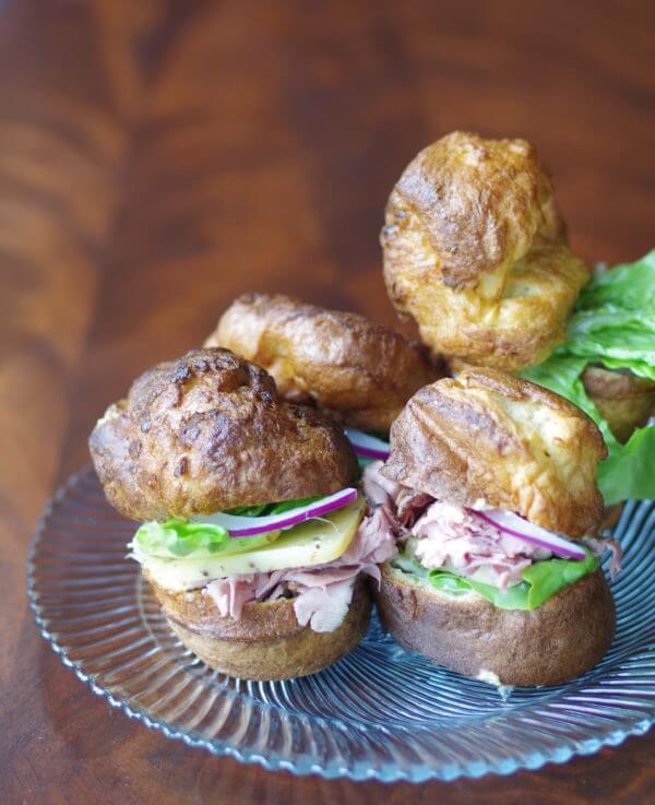 Mini Roast Beef Popover Sandwiches