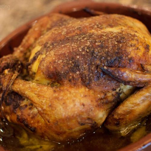 Golden Roast Chicken