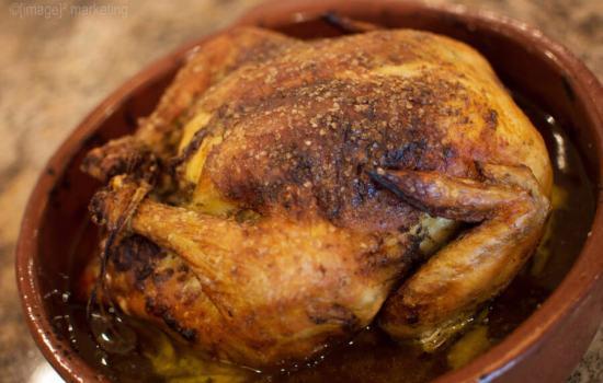 Golden Roast Chicken