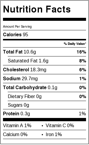 aioli nutritional value