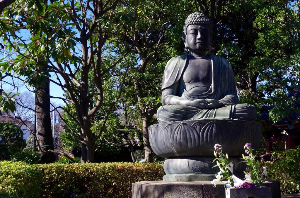 Sitting Buddha at Senso-ji Shrine