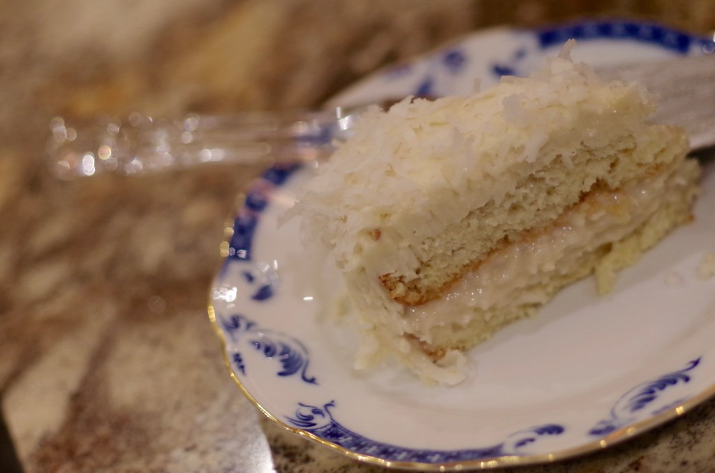Coconut cake recipe - rich decedent moist coconut cake that is worth all the effort... which is a lot :) | www.lakesidetable.com