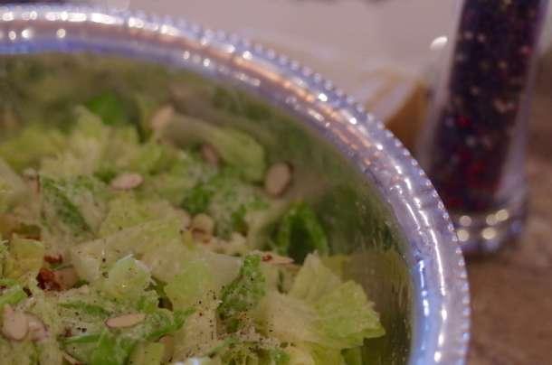 garlic and parmesan salad