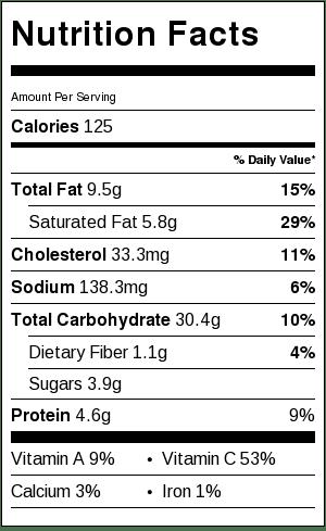 nutrition information sugar free schaum torte
