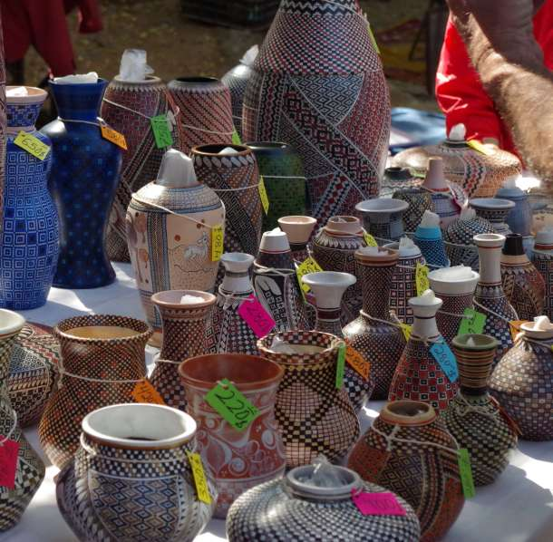 pottery in Ajijic tianguis