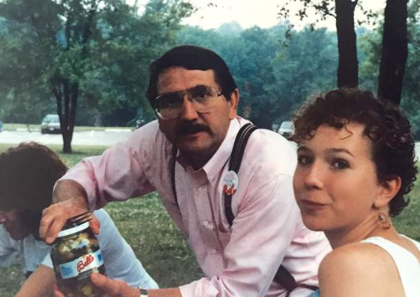 Dad and I at a 1980s picnic