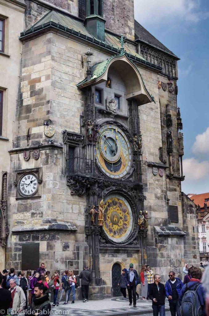 Prague's Old Town Square clock