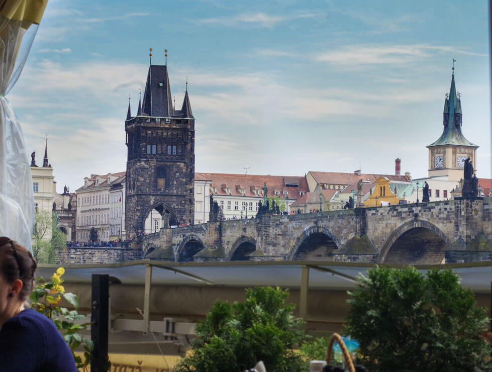 view from certovka restaurant Prague